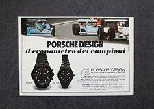 H911- Advertising Pubblicità -1979- PORSCHE DESIGN IL CRONOMETRO DEI CAMPIONI