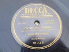 VTG 78 RECORD DECCA JOY TO THE WORLD WHITE CHRISTMAS JESSE CRAWFORD ORGAN CHIMES