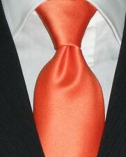 Cravatta sartoriale arancione varie misure Made in Italy cravate  corbata