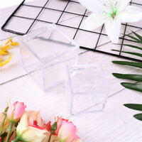 Fillable clear acrylic cube wedding party candy box ornament bauble decor gift 3