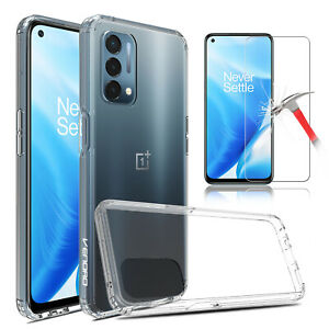 For OnePlus Nord N200 5G TPU Shockproof Clear Case Cover / HD Screen Protector
