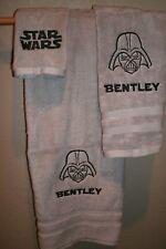 Star Wars Vader Sketch Outline 3 Piece Bath Towel Set Set Color Choice