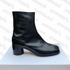 NEW MENS MAISON MARGIELA BLACK LEATHER TABI BOOTS WITH HEEL SIZE EU46 UK12