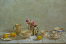 Delicate Impressionist Still Life Original Work by Spanish Artist Alicia Grau