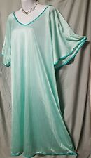 "ONLY NECESSITIES GREEN W/GREEN NIGHTGOWN  ABOVE ANKLE SEXY COMFY SZ 1X 56"" BUST"
