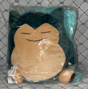 "New In Plastic Snorlax Besttio Pokemon Pillow With Turquoise Fleece Throw43""x66"""