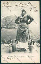 Palermo Costumi Siciliani cartolina QQ0911