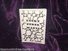 LUCKY STONE Magic finbarr LIBRO sull'OCCULTO Magick Bianco Grimoire Stregoneria Nero