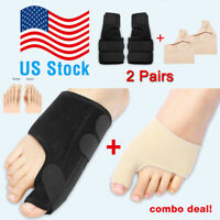 2Types Big Toe Bunion Splint Straightener Corrector Hallux Valgu Relief Pain New