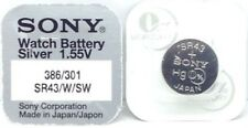 Battery Made in Japan - Various Sizes Sony 1.55v Silver Oxide Mercury Free Watch
