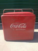 VTG Coca-Cola Picnic Cooler w/ Ice Tray by Progress Louisville Kentucky 1950's