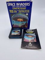 SPACE INVADERS Game Atari 2600 with Box & Instruction Manual 1978 Tested