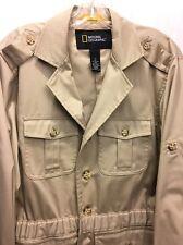 National Geographic Jacket Travel Field Safari Correspondent Mens Medium Lined