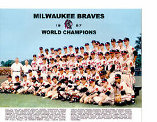 1957 MILWAUKEE BRAVES CHAMPS TEAM 8X10  PHOTO AARON  BASEBALL WISCONSIN