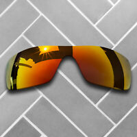 Polarized Fire Red Mirrored Sunglasses Replacement Lenses for-Oakley Batwolf