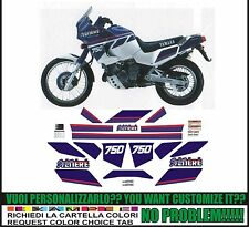 kit adesivi stickers compatibili  XT 750 Z SUPER TENERE 1990 WHITE BLUE