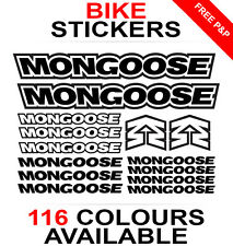 Mongoose decals stickers sheet (cycling, mtb, bmx, road, bike) die-cut