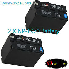2x7900mAh Battery for Sony NP-F970 NP-F960 NP-F930 F770 CCD-TR TRV Camcorder