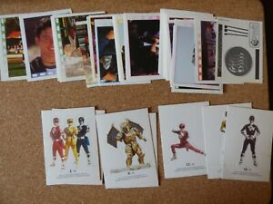 MERLIN POWER RANGERS MOVIE STICKERS JOB LOT x 49 & 7 STAND UP CARD VARIANTS