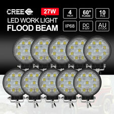 10x 27W FLOOD LED Work Lights CREE Round Off Road 4x4 Truck Boat 12V 24V