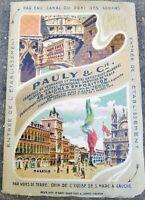 1910 PIANTA DI VENEZIA E ILLUSTRAZIONI FABBRICA DI VETRI DI MURANO PAULY & C.ie