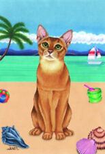 Beach Garden Flag - Abyssinian Cat 640011