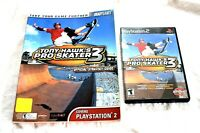 Sony Playstation 2 PS2 Tony Hawk Pro Skater 2 Video Game & Strategy Guide Bundle