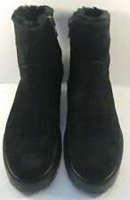 Vince Black Suede Side Zip Ankle Boots Womens Size US 7M