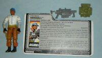 1988 GI Joe Grenadier Hardball v1 Baseball Player Figure w/ File Card *Complete