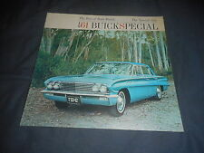 1961 Buick Special V8 Color Brochure Catalog  Prospekt