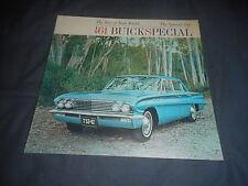 1961 Buick Special V8 Color Brochure Catalog  Prospekt