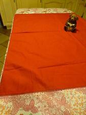 98x94cmneuve nappe ,protége table rouge ,coton