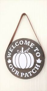 FALL Wooden Signs, Rustic Wooden Sign,  Leather Strap , Rustic Farmhouse Decor