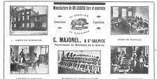 """81 SAINT SULPICE """" MANUFACTURE DE BROSSERIE """" ETS MAJOREL PUBLICITE 1923"""