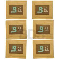6 Pack Boveda 62% Humidity Regulator 8g 2-Way Humidifier Moisture Humidipack