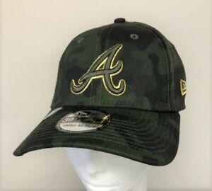 ATLANTA BRAVES New Era 39Thirty MLB Armed Forces Day Camo Hat / Cap Sz S/M NEW
