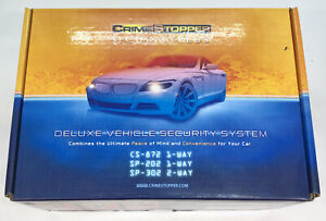 Crimestopper SP-202 Security Plus Deluxe Vehicle Car Security System NEW