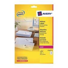 Avery  Laser Jam Free White Address 18 Labels Per Sheet 40 In Box L7161