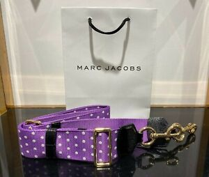 Webbing Strap Lilac & White polca dot for Marc Jacobs Snapshot small camera bag