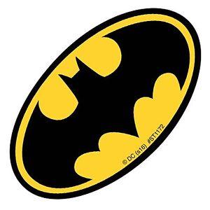 Batman Stickers - Batman Logo Stickers x 5 - Birthday Party Supplies Favours