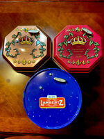 European Cookie Tins X2 -One Lambertz Tin- Lot Of 3