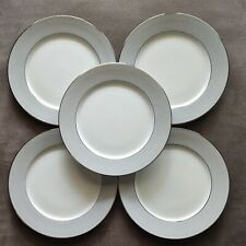 "Set of 5 Block Spal Portugal Grey Dawn 10-1/2"" dinner plates 1980"
