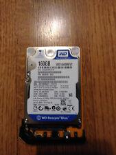 "Western Digital Scorpio Blue 160GB,Internal,5400RPM,2.5"" (WD1600BEVT) HDD 255Hrs"