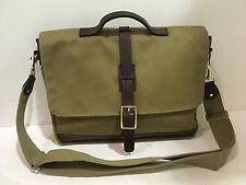 New KORCHMAR Z9232 Dawson Bag Waxed Cotton Leather Messenger Briefcase $315