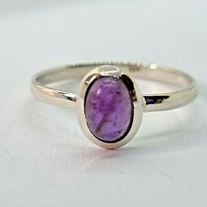 Brand New Sterling Silver 925 Amethyst (Oval) Ring, Size R