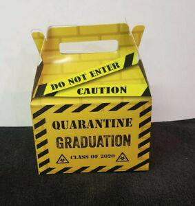 QUARANTINE GRADUATION FAVOR BOXES SET of 10