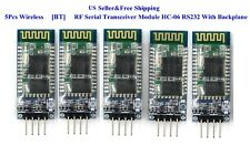 5Pcs HC-06 Wireless RF Serial Transceiver Module RS232 Board With Backplane