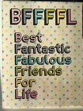 "Sparkly Canvas Wall Decor With ""BFFFFL"" Quote (7 x 9 inch)"
