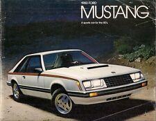 Ford Mustang 1980 USA Market Sales Brochure 2-dr 3-dr Ghia Cobra