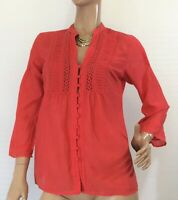 🌻 JAG SIZE 10 RED SILK TOP